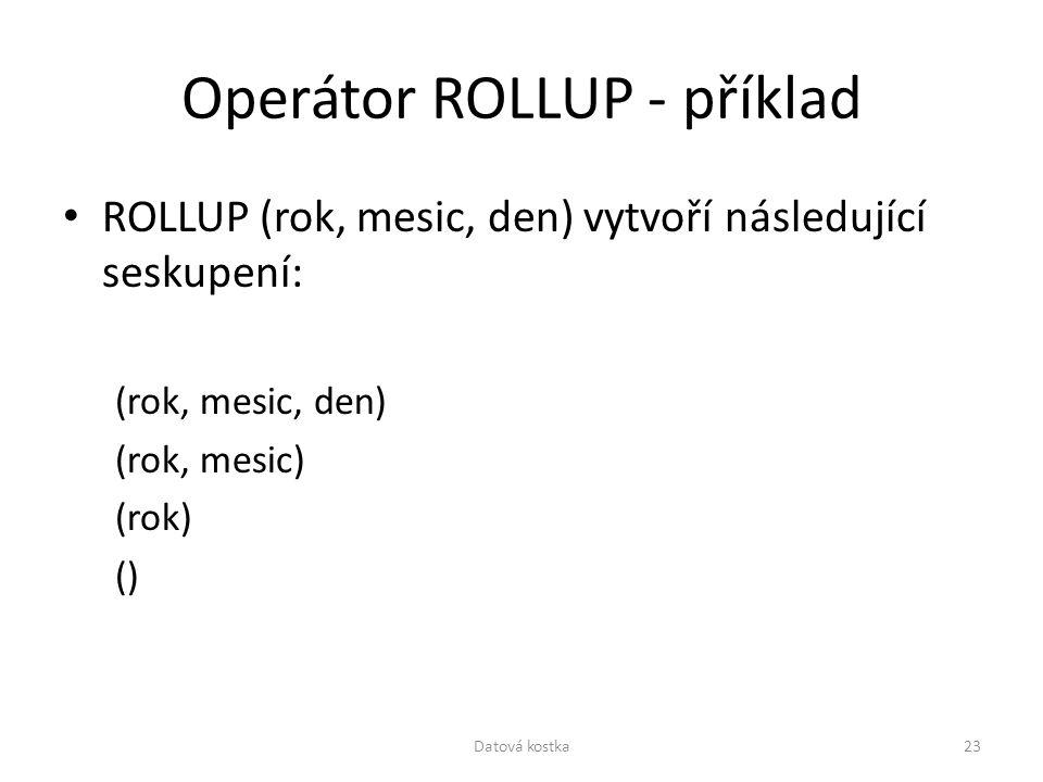 Operátor ROLLUP - příklad