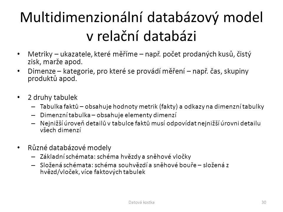 Multidimenzionální databázový model v relační databázi
