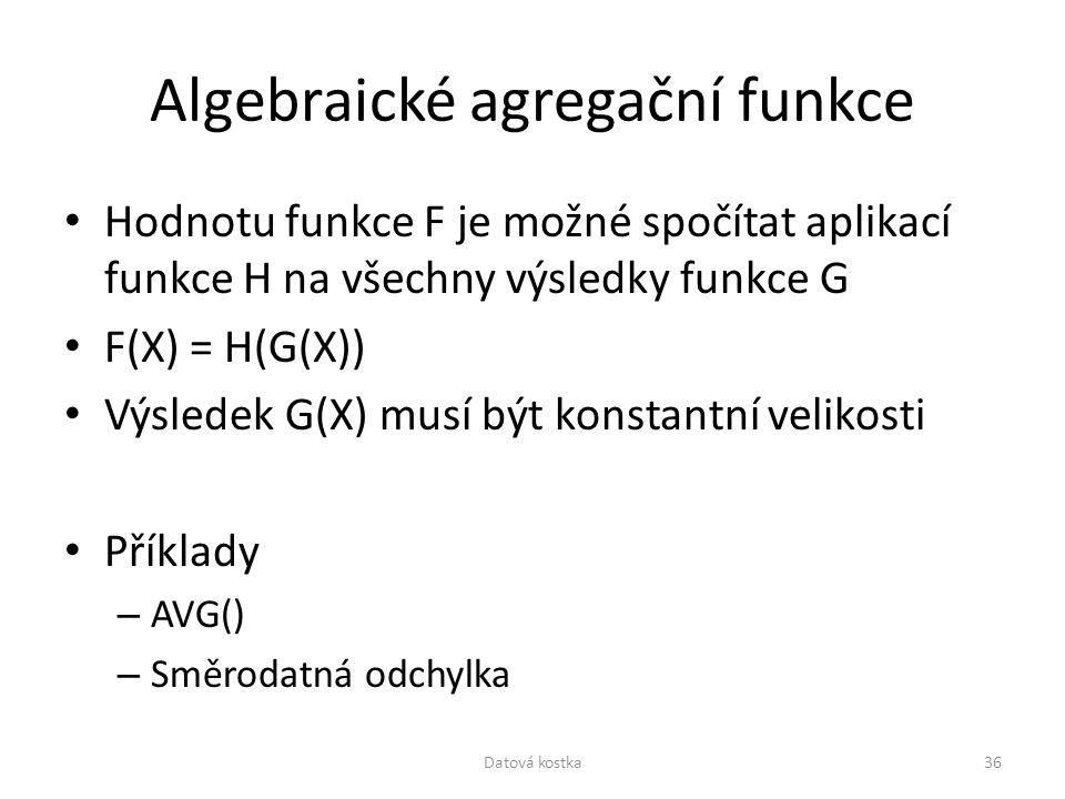 Algebraické agregační funkce