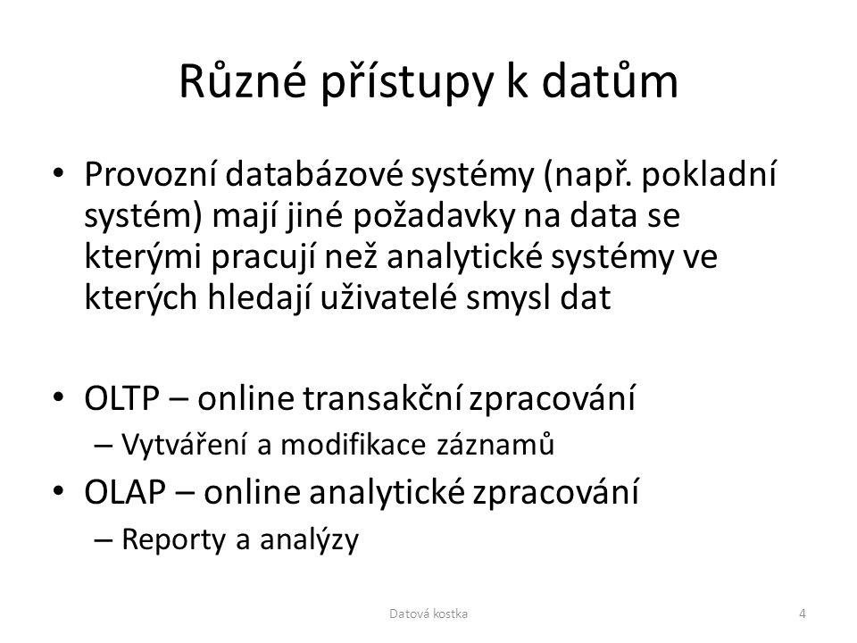 Různé přístupy k datům