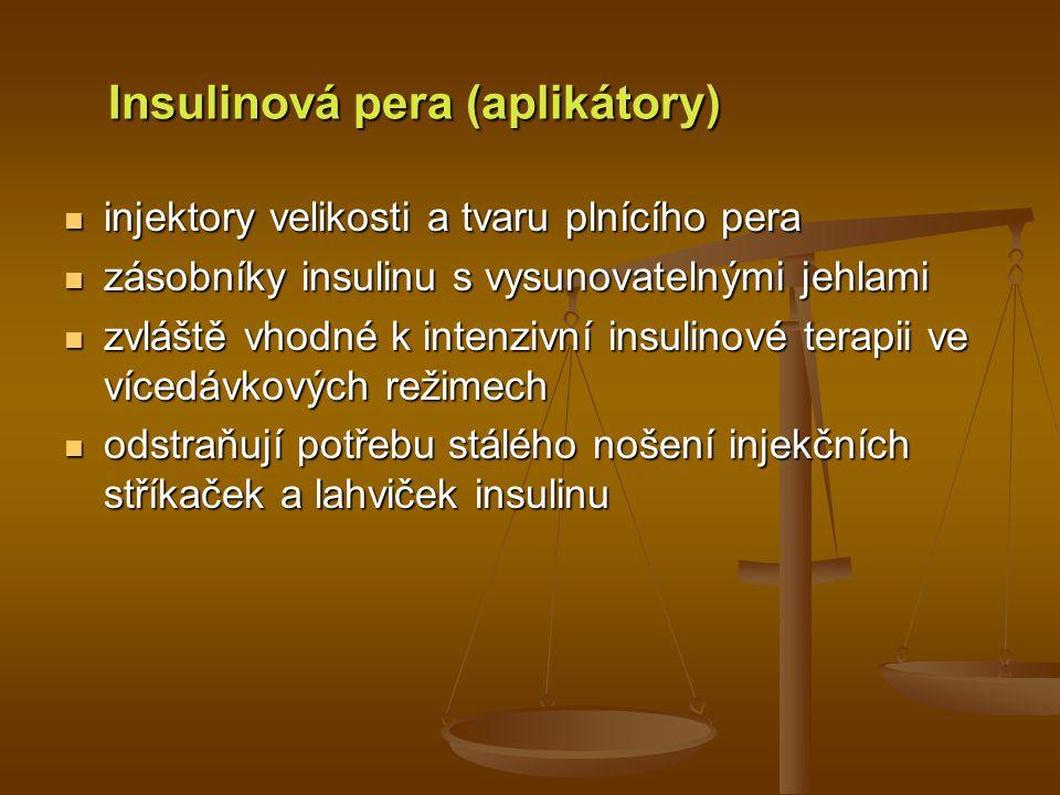 Insulinová pera (aplikátory)