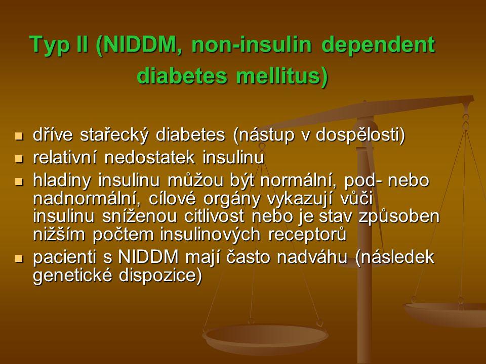 Typ ll (NIDDM, non-insulin dependent diabetes mellitus)