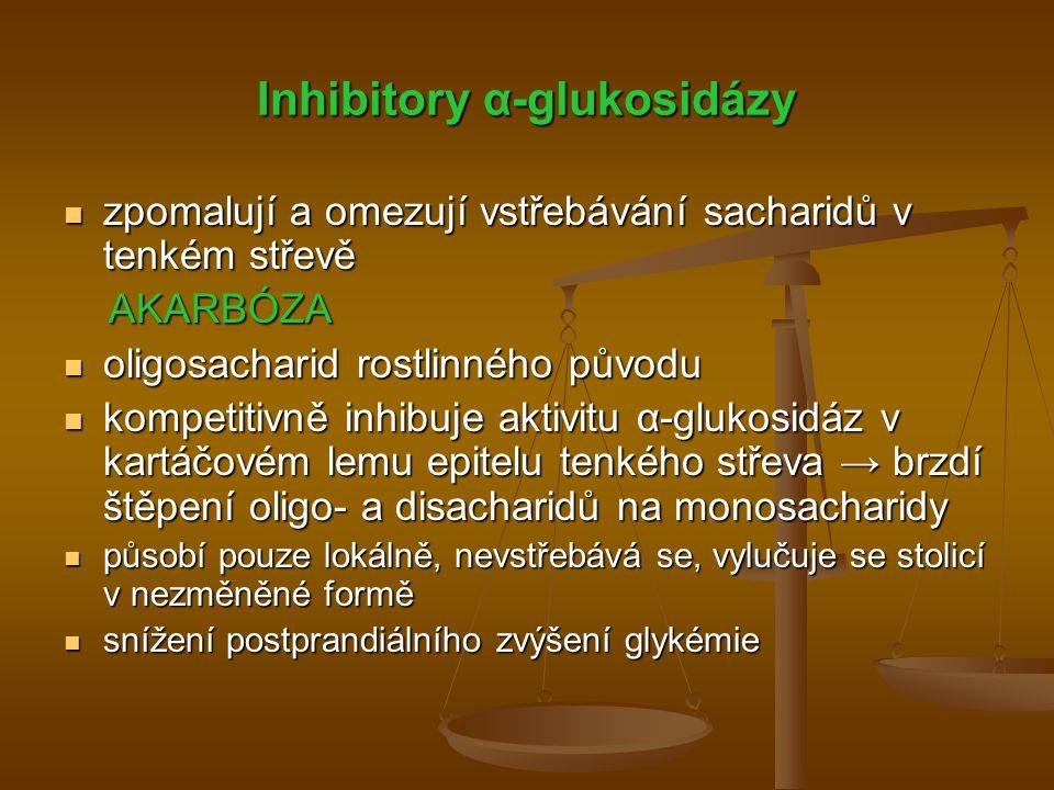 Inhibitory α-glukosidázy