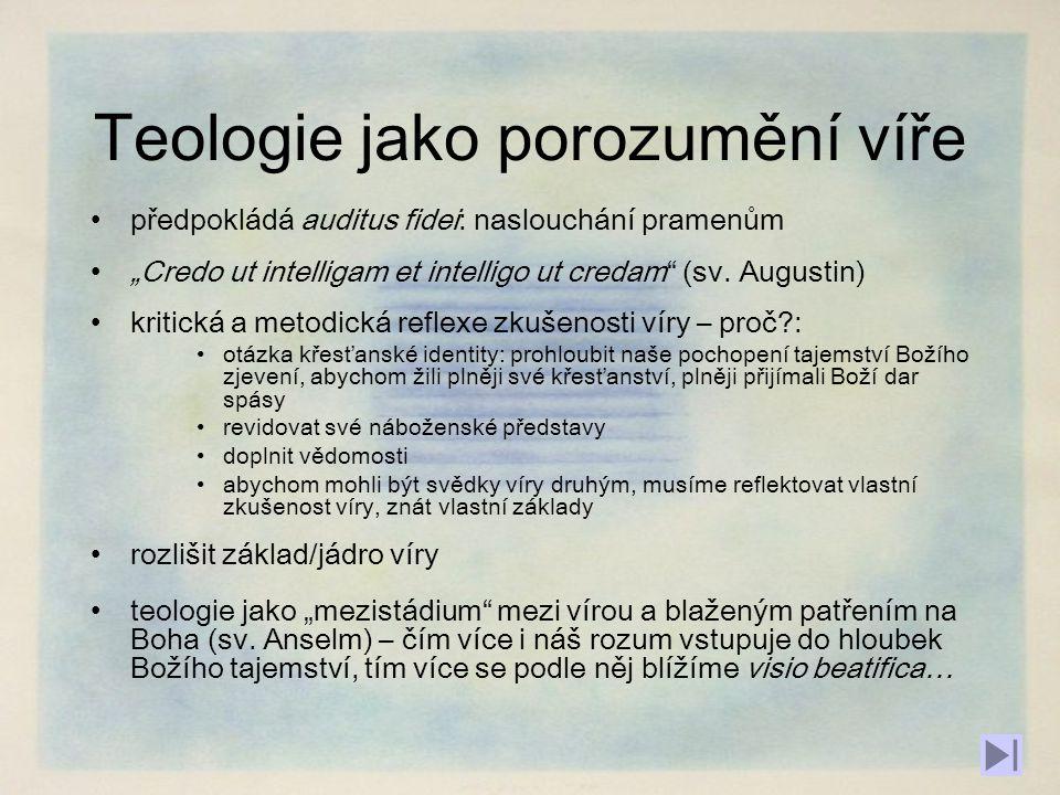 Teologie jako porozumění víře