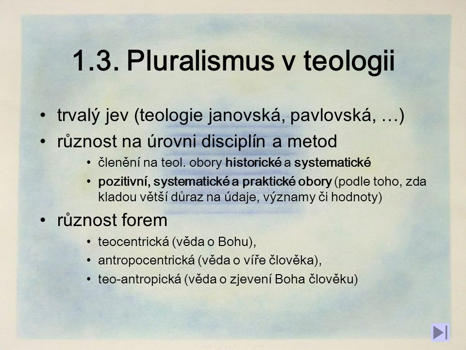1.3. Pluralismus v teologii