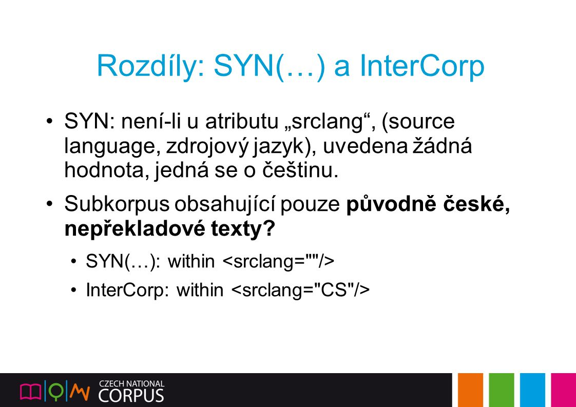 Rozdíly: SYN(…) a InterCorp
