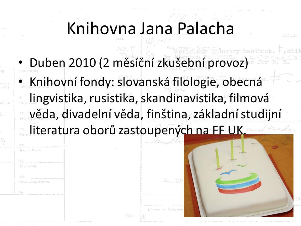 Knihovna Jana Palacha Duben 2010 (2 měsíční zkušební provoz)