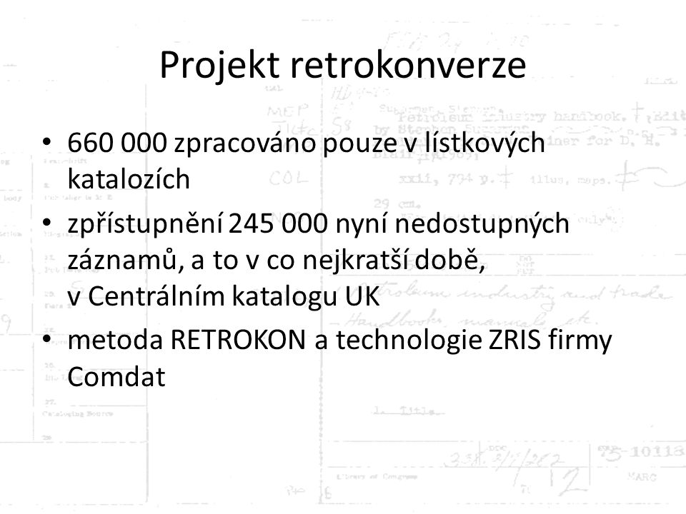 Projekt retrokonverze