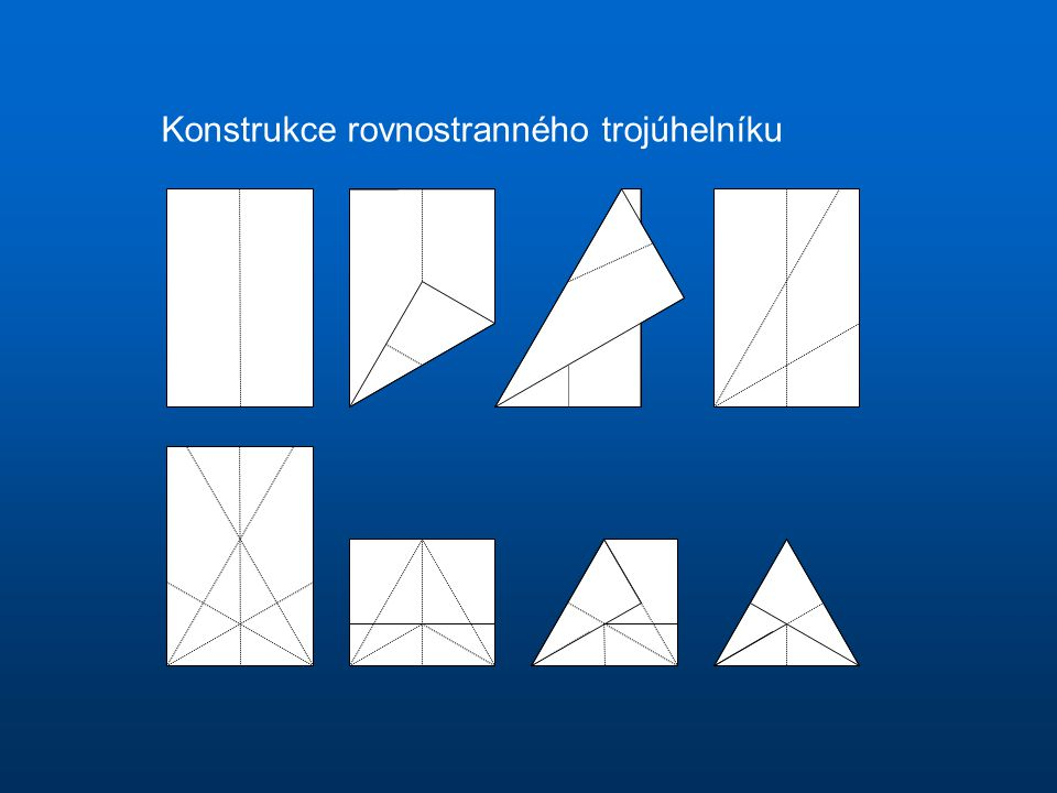 Konstrukce rovnostranného trojúhelníku