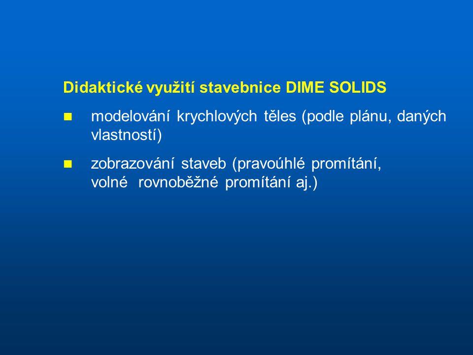 Didaktické využití stavebnice DIME SOLIDS
