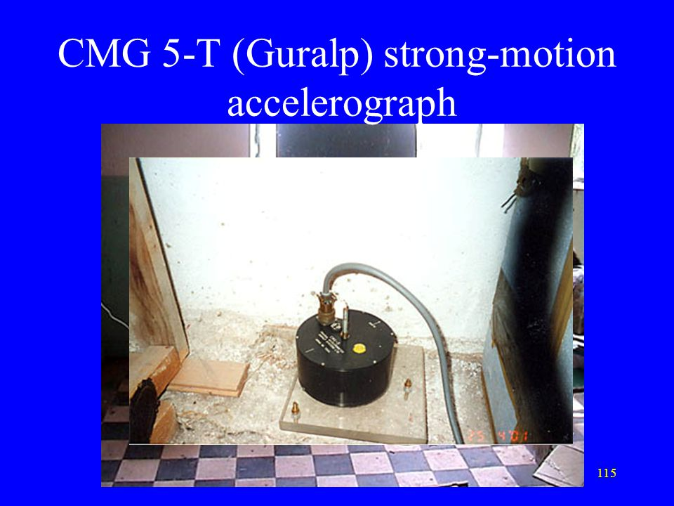 CMG 5-T (Guralp) strong-motion accelerograph