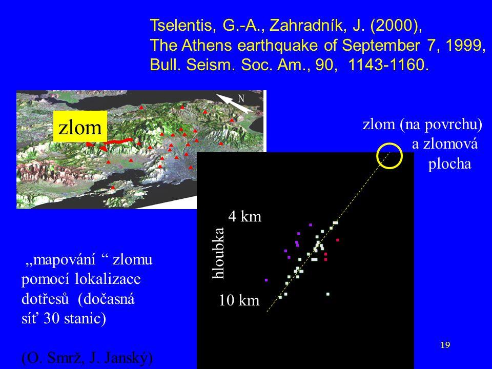 zlom Tselentis, G.-A., Zahradník, J. (2000),