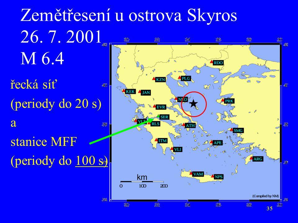 Zemětřesení u ostrova Skyros 26. 7. 2001 M 6.4
