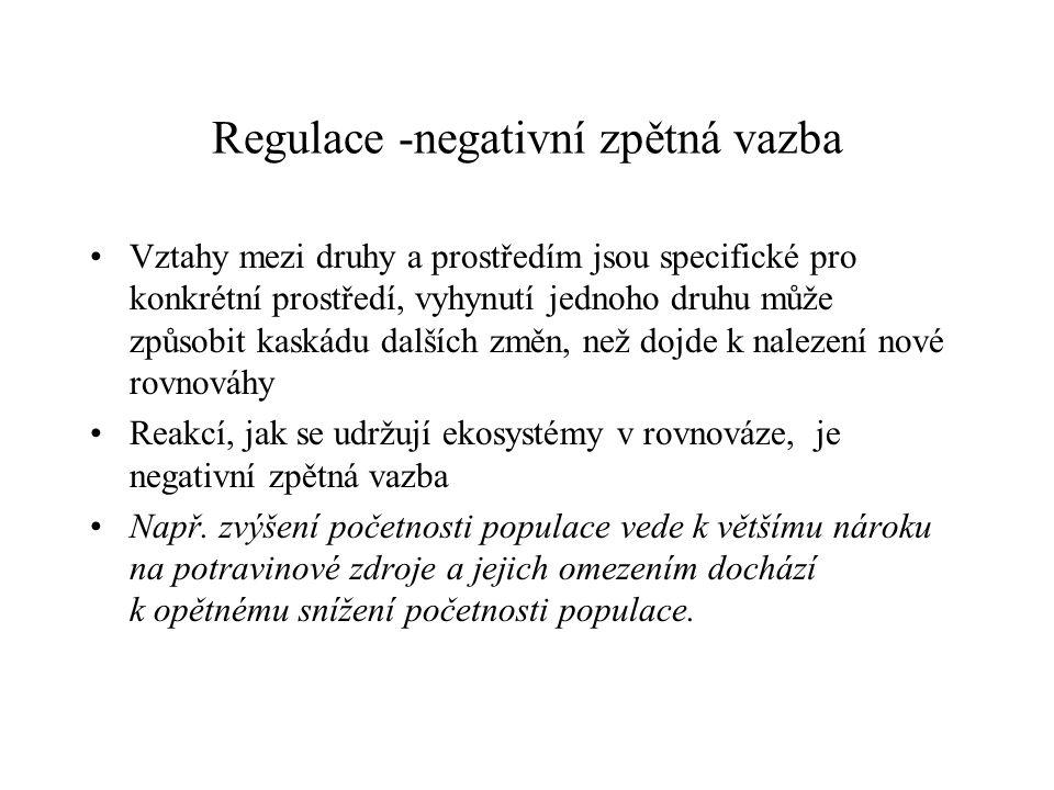Regulace -negativní zpětná vazba