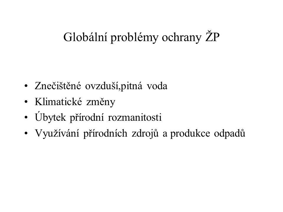 Globální problémy ochrany ŽP
