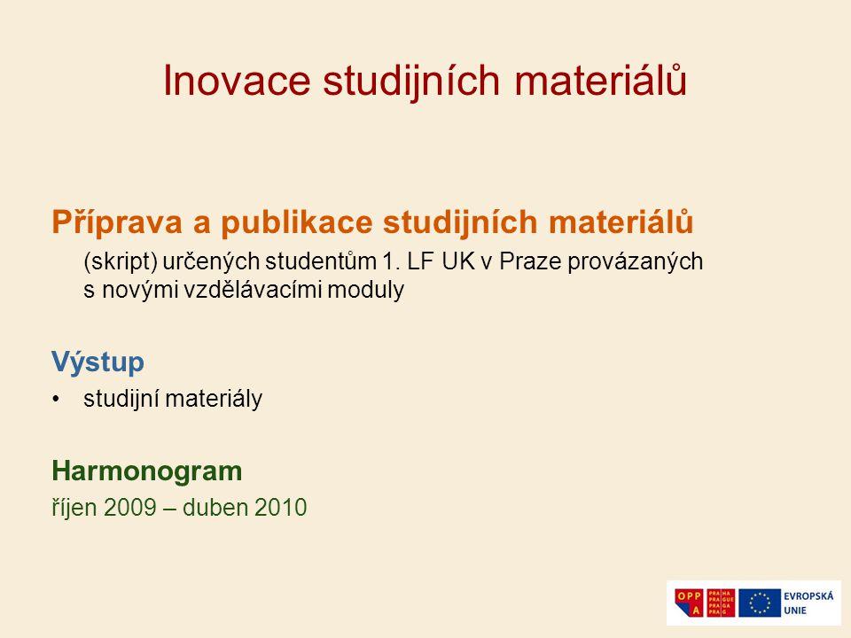 Inovace studijních materiálů