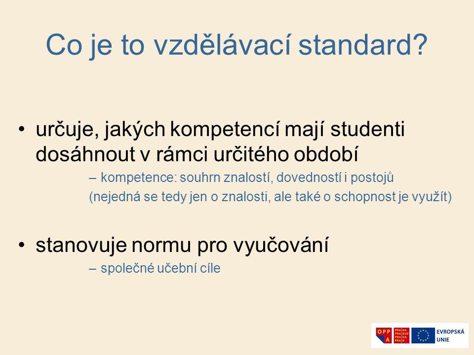 Co je to vzdělávací standard