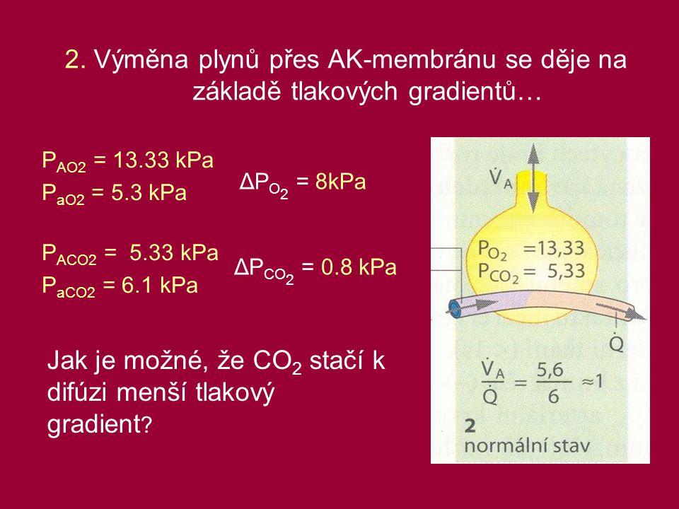 Jak je možné, že CO2 stačí k difúzi menší tlakový gradient