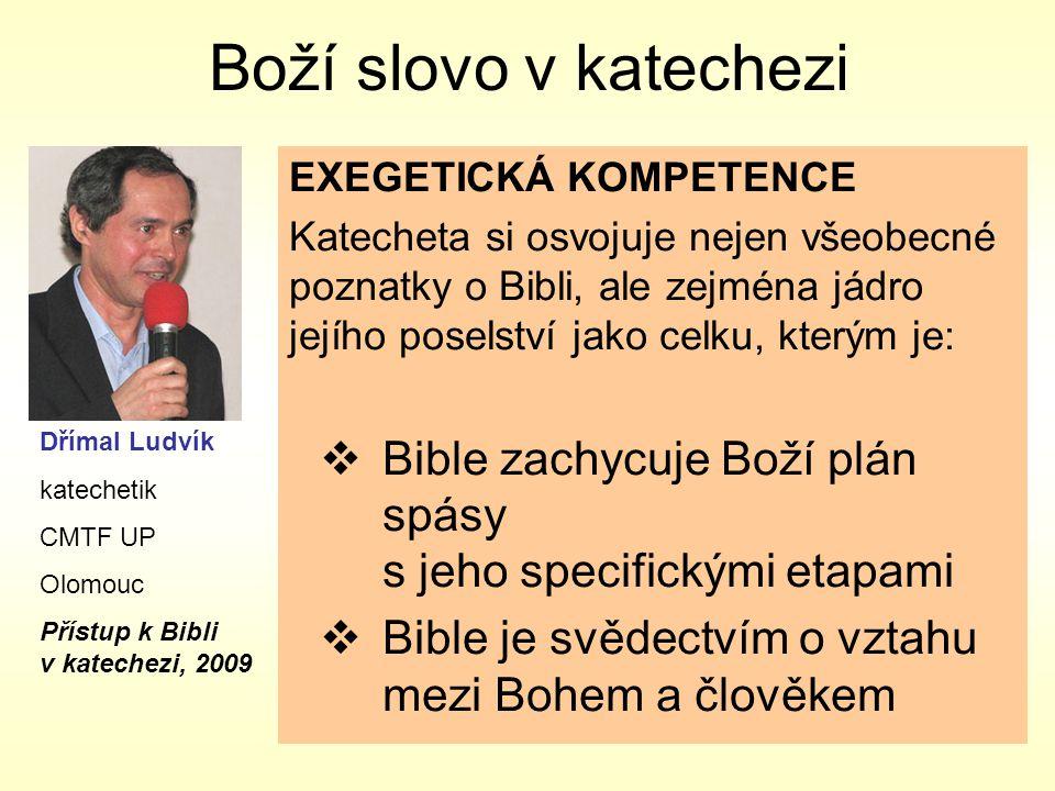 Boží slovo v katechezi EXEGETICKÁ KOMPETENCE.