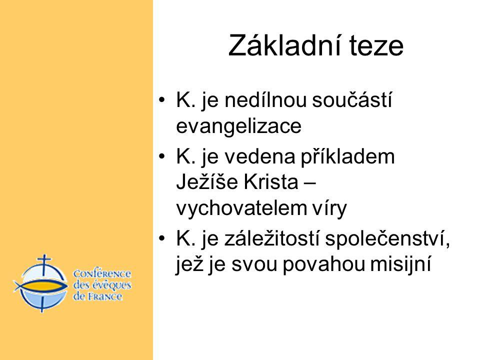 Základní teze K. je nedílnou součástí evangelizace