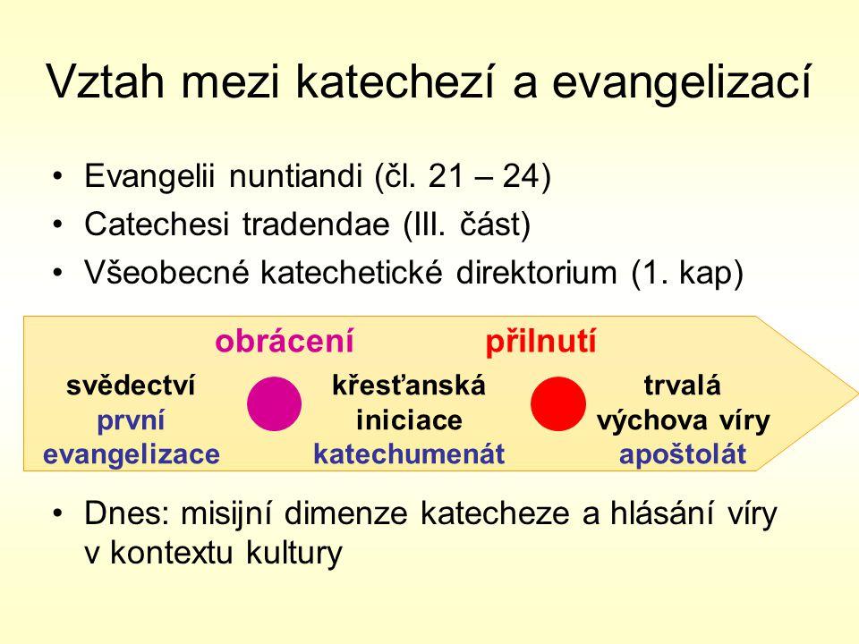 Vztah mezi katechezí a evangelizací