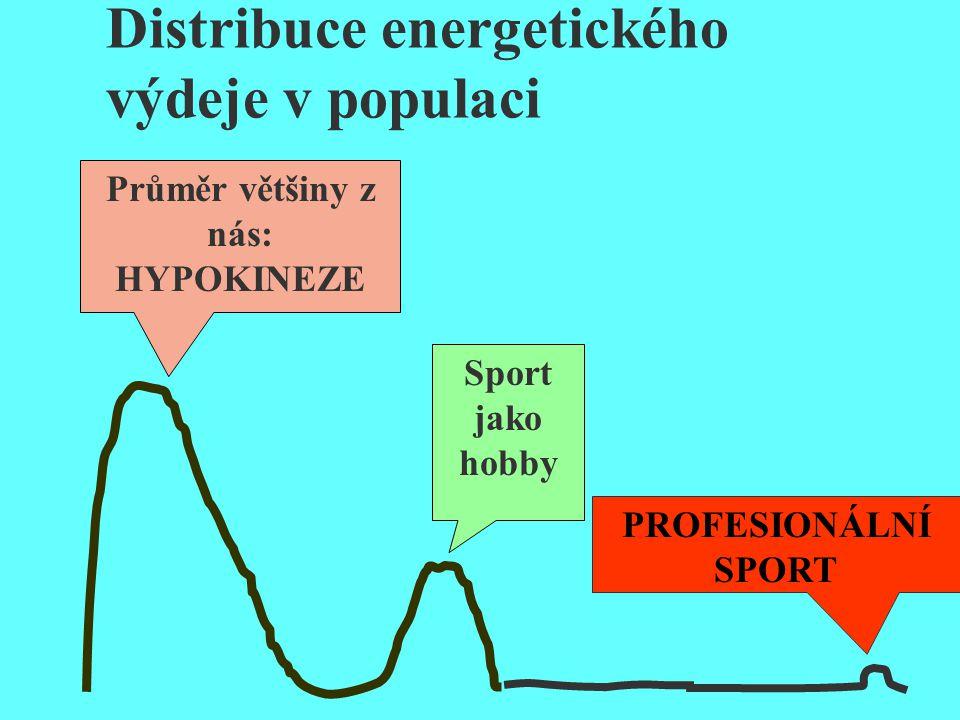 Distribuce energetického výdeje v populaci