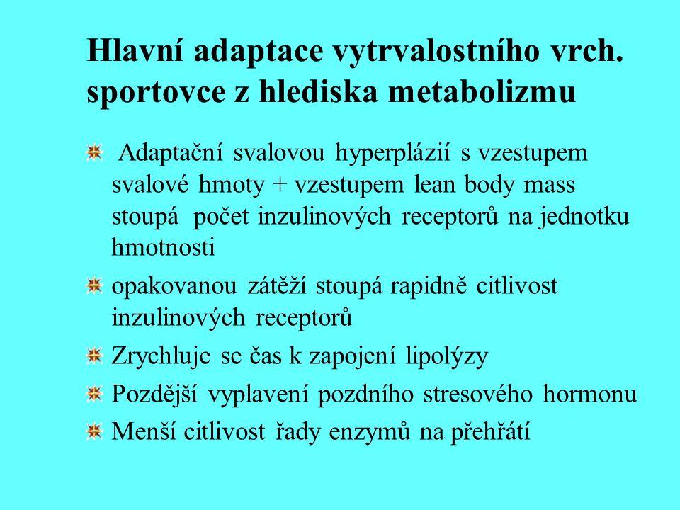Hlavní adaptace vytrvalostního vrch. sportovce z hlediska metabolizmu