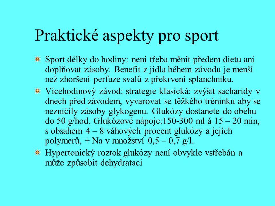 Praktické aspekty pro sport