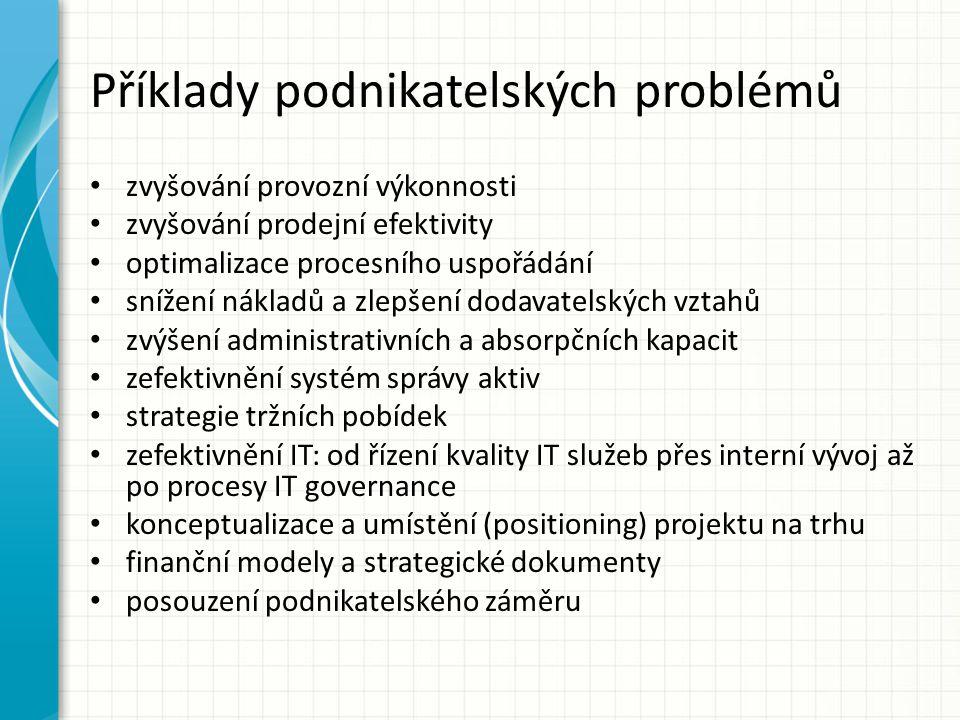 Příklady podnikatelských problémů