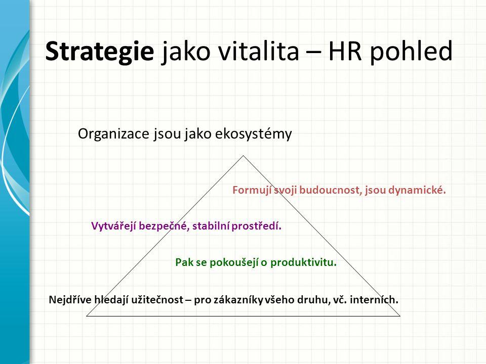 Strategie jako vitalita – HR pohled
