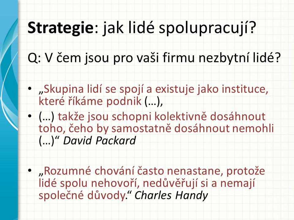 Strategie: jak lidé spolupracují