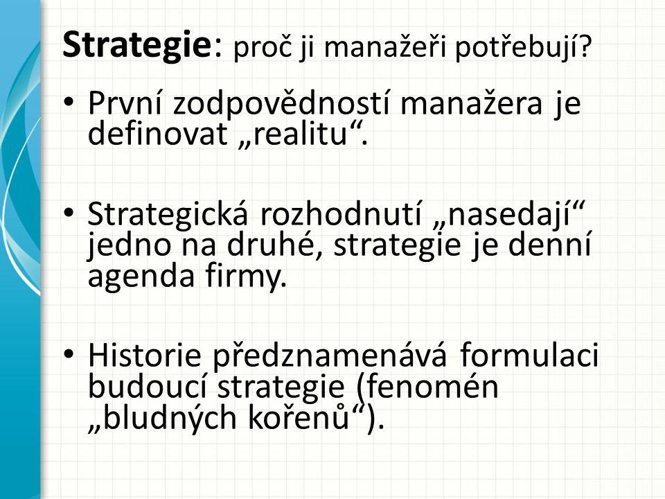 Strategie: proč ji manažeři potřebují