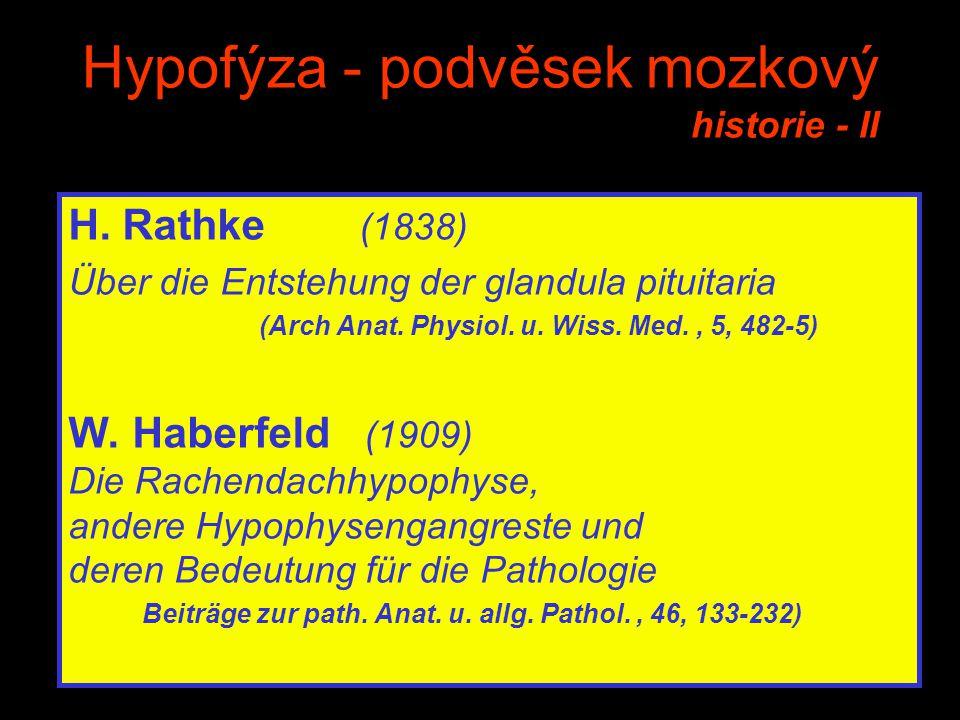 Hypofýza - podvěsek mozkový historie - II