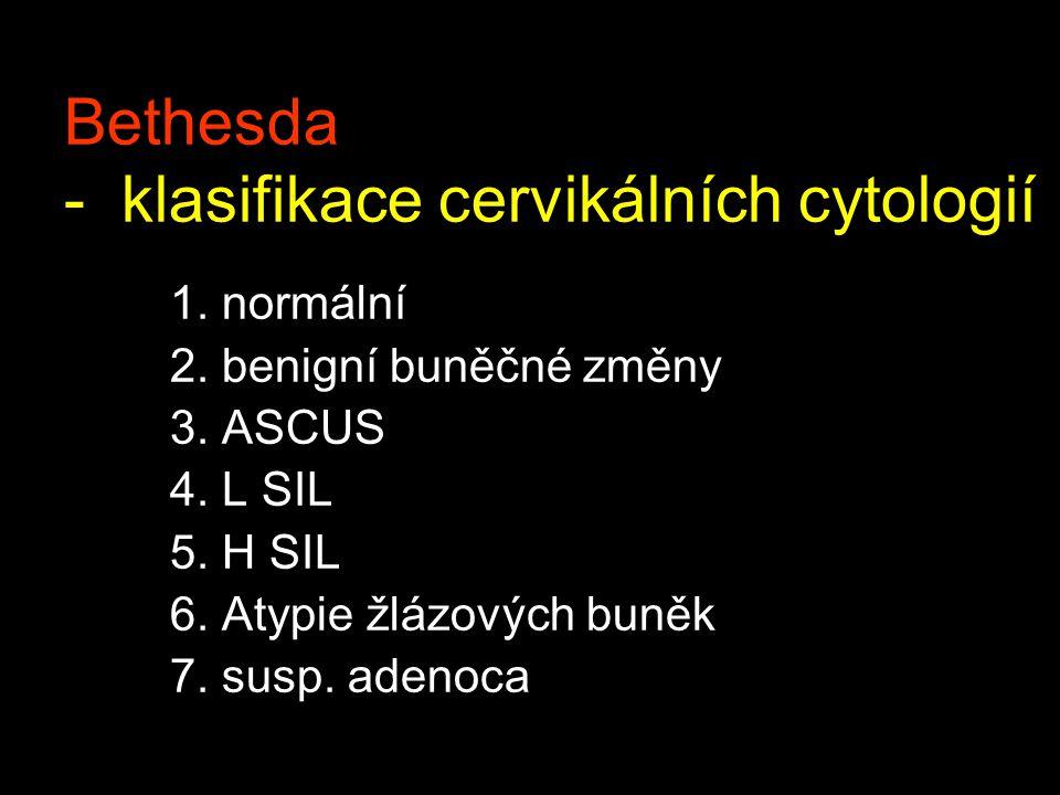 Bethesda - klasifikace cervikálních cytologií