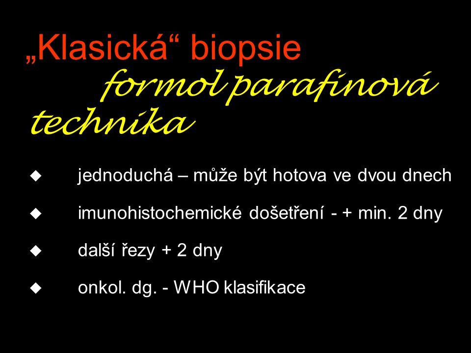 """""""Klasická biopsie formol parafinová technika"""