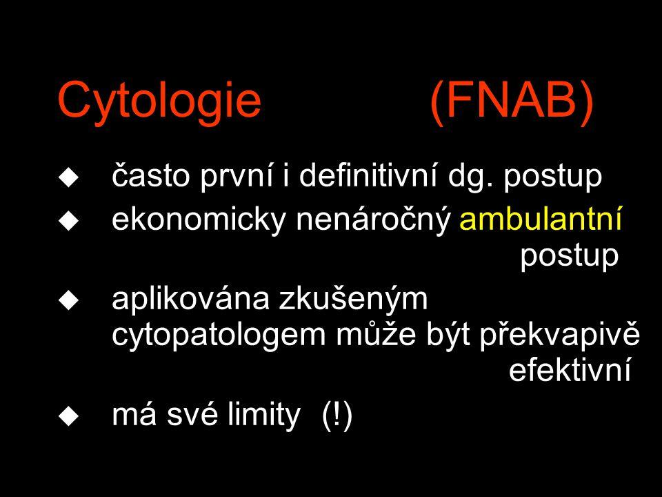 Cytologie (FNAB) často první i definitivní dg. postup