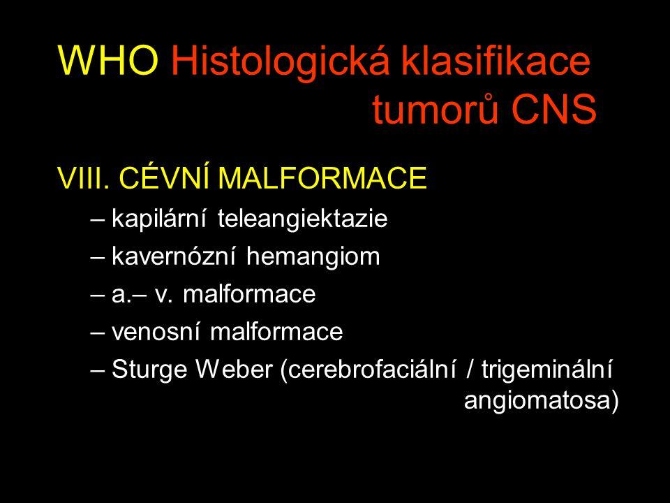 WHO Histologická klasifikace tumorů CNS