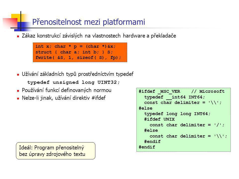 Přenositelnost mezi platformami