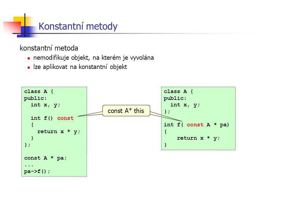 Konstantní metody konstantní metoda