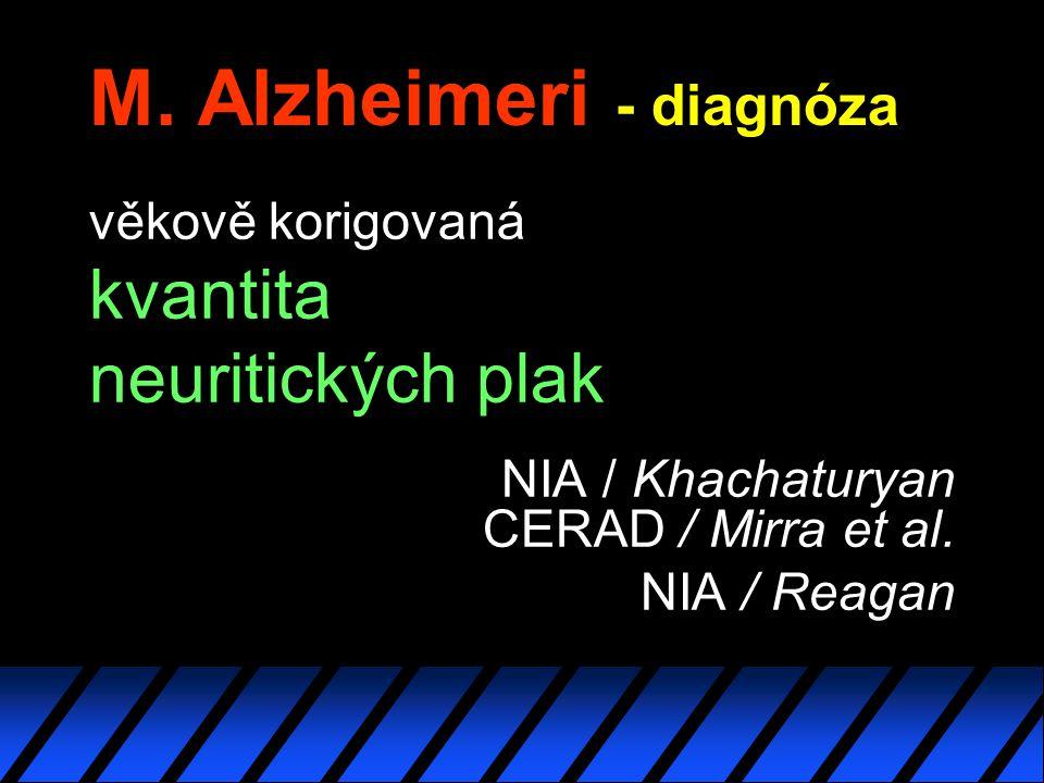 M. Alzheimeri - diagnóza
