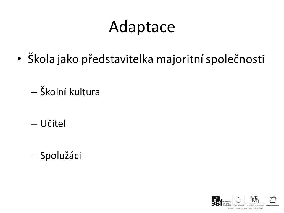 Adaptace Škola jako představitelka majoritní společnosti