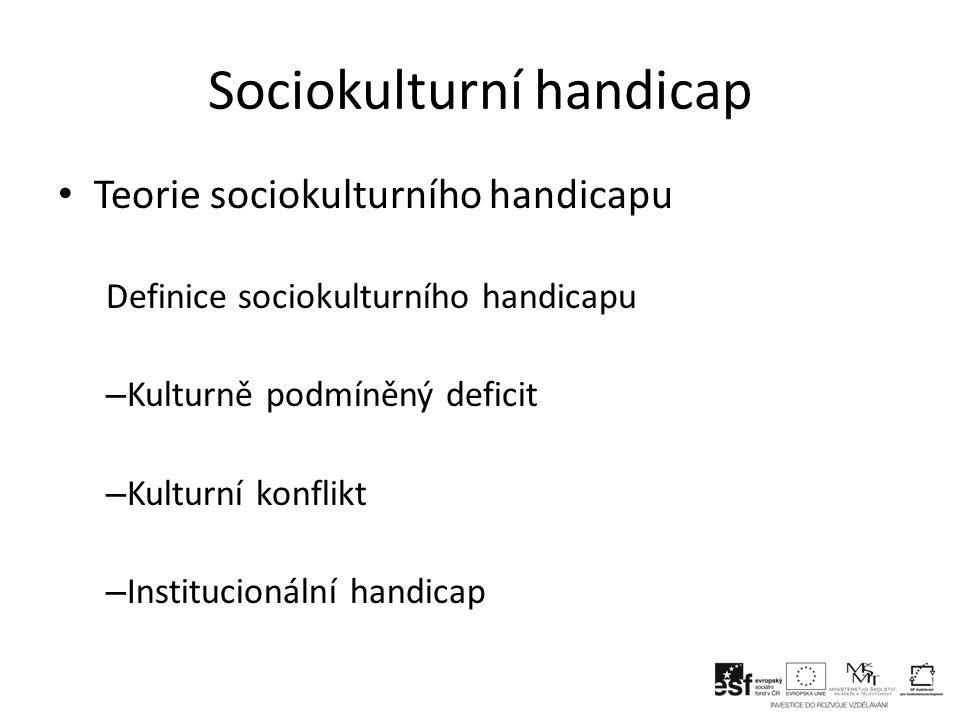 Sociokulturní handicap