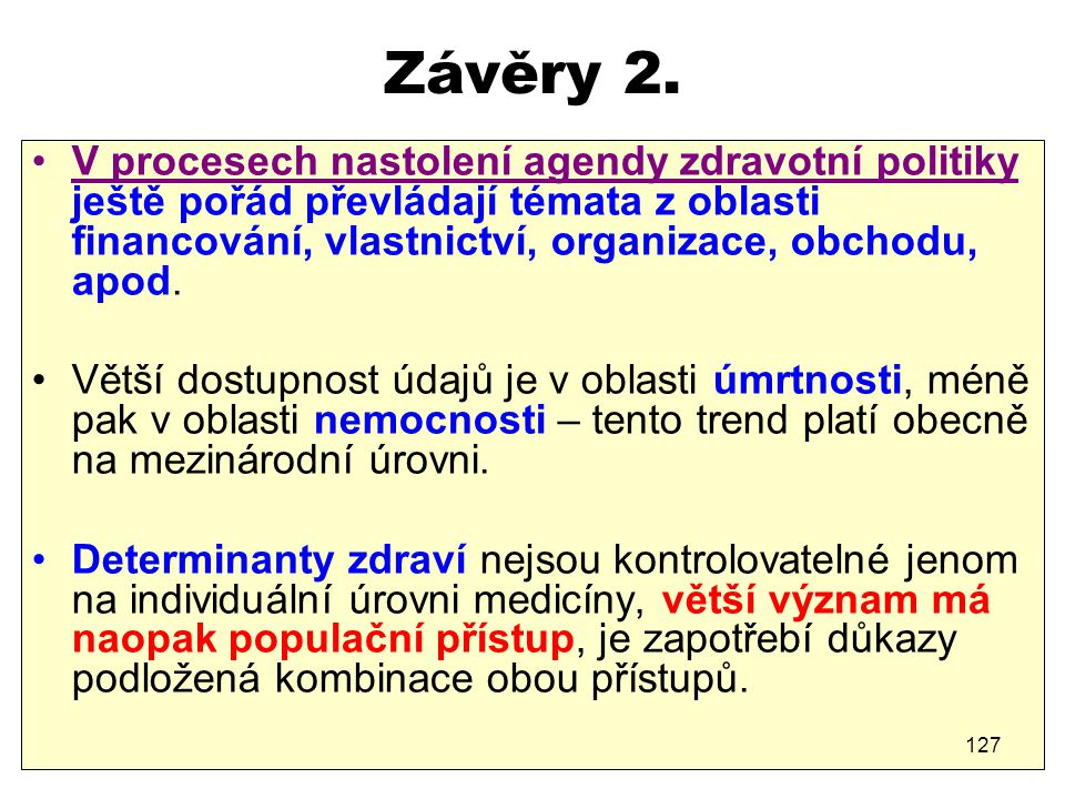 Závěry 2.