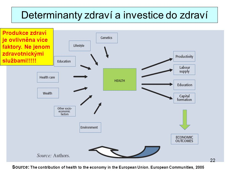 Determinanty zdraví a investice do zdraví