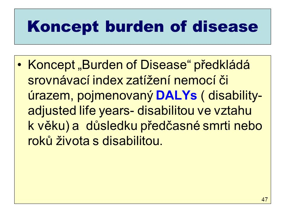Koncept burden of disease