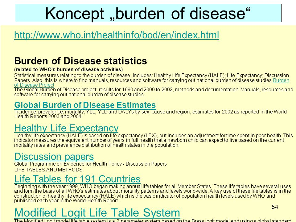 "Koncept ""burden of disease"