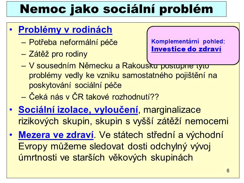 Nemoc jako sociální problém