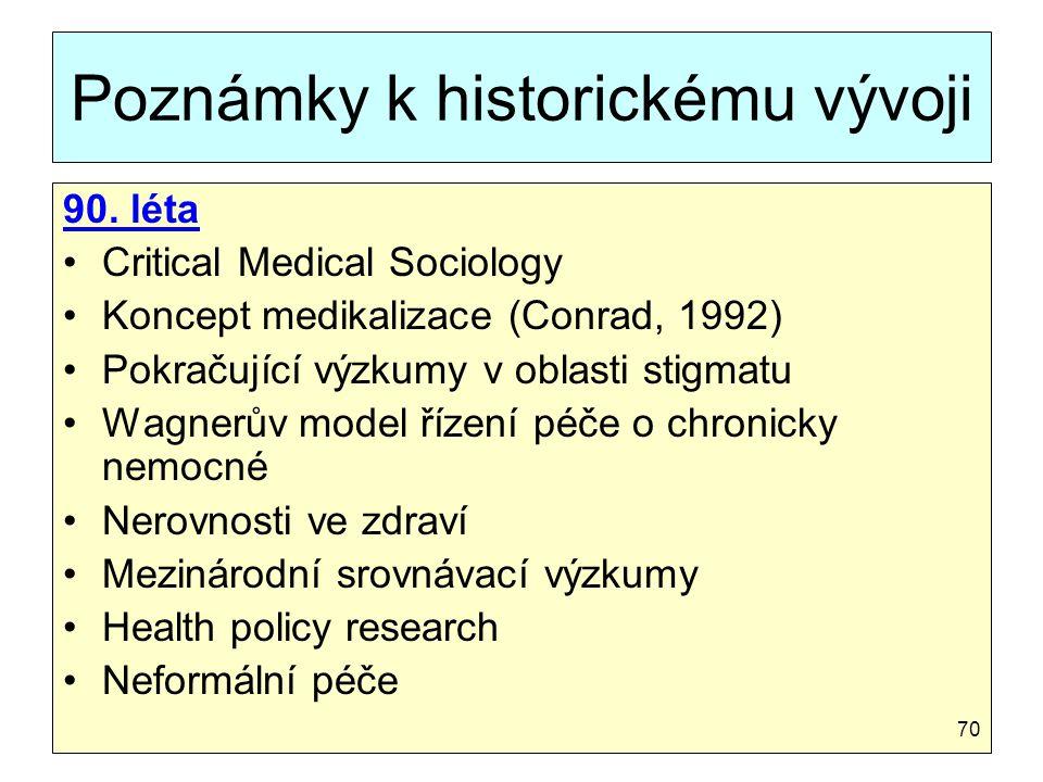 Poznámky k historickému vývoji
