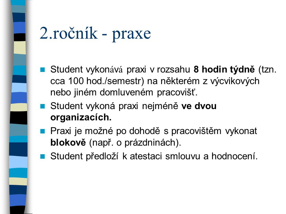 2.ročník - praxe