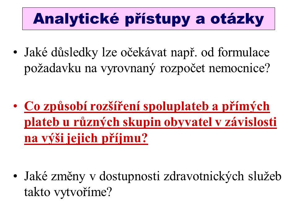 Analytické přístupy a otázky